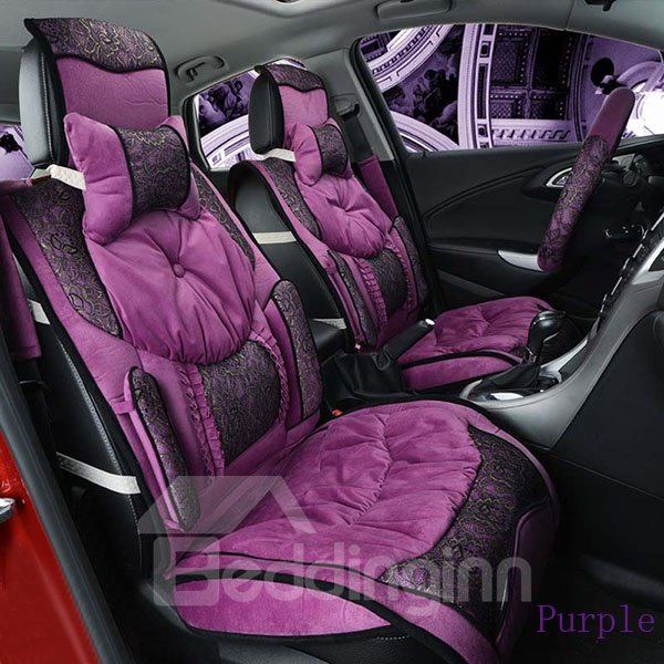 down feather black lace portion ultra soft and comfortable car seat cover. Black Bedroom Furniture Sets. Home Design Ideas