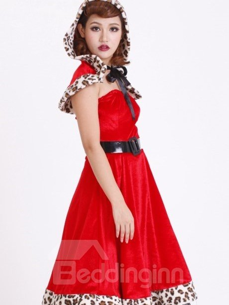 Beautiful And Sexy Long Dress Shawl Christmas Costume