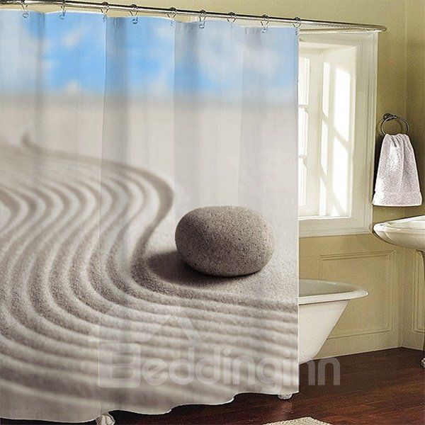 Unique Stone in the Desert Printing 3D Polyester Shower Curtain