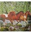 Creative Running Horse Print Polyester Shower Curtain