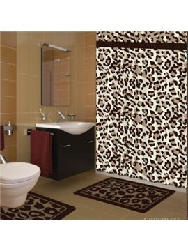 Stylish Gorgeous Leopard Print Polyester Shower Curtain