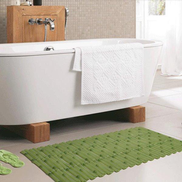 Unique Graceful Bamboo Image PVC Bath Rug