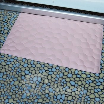 Concise Solid Color Irregular Geometric Figure Bath Mats