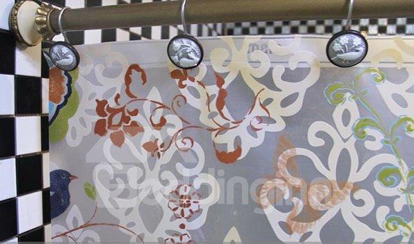 Stylish Unique Scissor-cut Style Shower Curtain Hooks