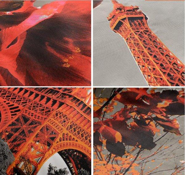 Romantic Aesthete Eiffel Tower Printing Shower Curtain