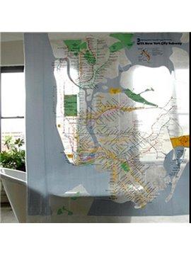 Unique Wonderful Subway Line Design Shower Curtain