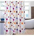 Lovely Fashion Colorful Circle Print Polyester Shower Curtain