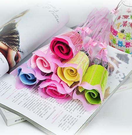Romantic Melting Rose Design Full Cotton Towel