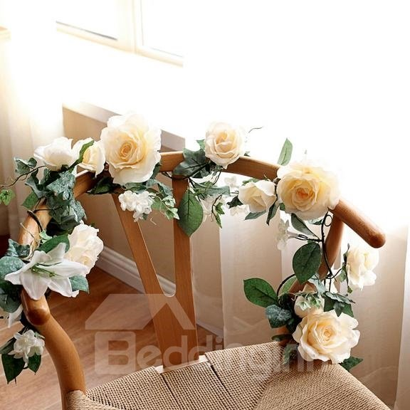 Pretty 1-Piece Simulation Flower Vine for Christmas Decoration
