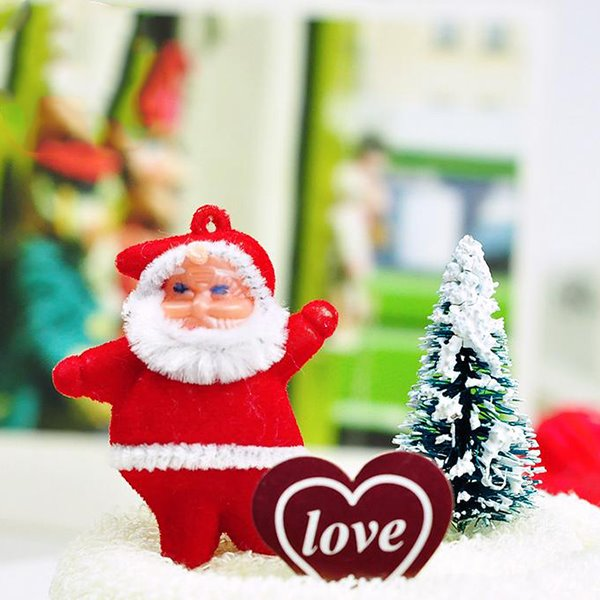 Creative Gift Cake Square Cotton Towel with Santa Claus