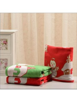 Sweet Christmas Tree Snowman House Soft Bath Towel