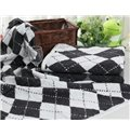 Cozy Super Fluffy Plaid Cotton Bath Towel