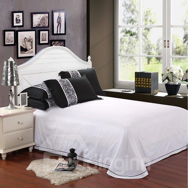 Modern Zebra Pattern 4-Piece Cotton Duvet Cover Sets