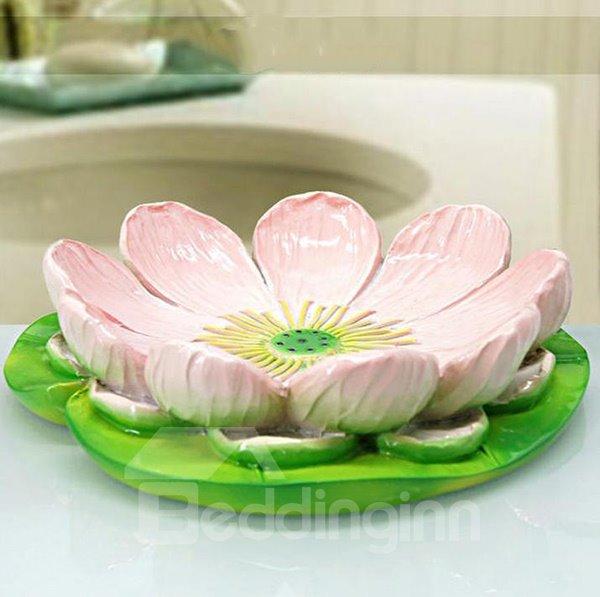 Graceful Beautiful Lotus Design Resin Soap Box