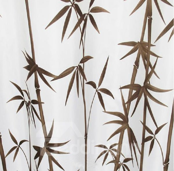 Graceful Concise Bamboo Grove Polyester Shower Curtain