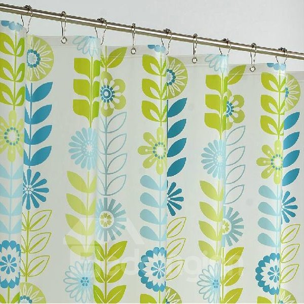 Fancy Vigorous Graceful Sunflower Green Shower Curtain