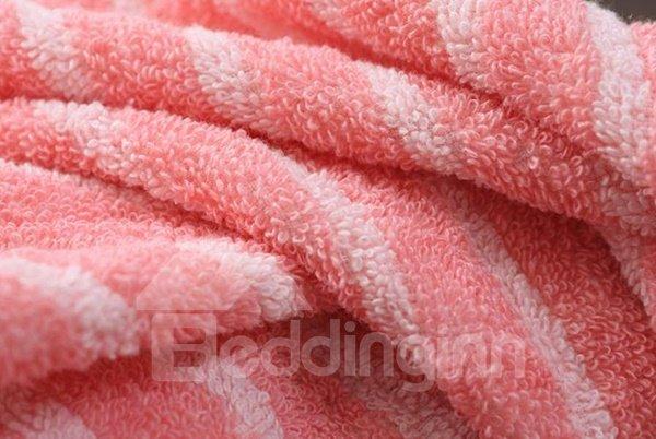 Top Selling Stylish Plush Stripe Pattern Cotton Towel