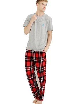 High Quality Fleece Plaid Flex Waistband Pajamas Pants