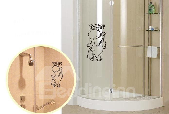 Hand Drawn Bathroom I Love Shower 2-Piece Wall Stickers