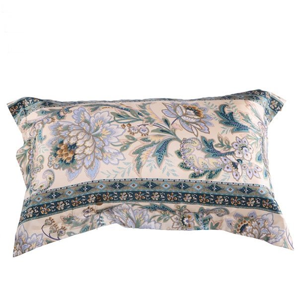 Gorgeous Dark Green Floral Pattern Skincare One Piece Mulberry Silk Bed Pillow Case