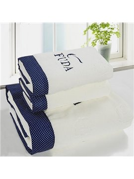 Fashion Lovely Dots White 3-piece Bath Towel Set