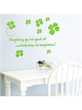 Wonderful Pretty Green Infinite Happiness Fashion Wall Stickers