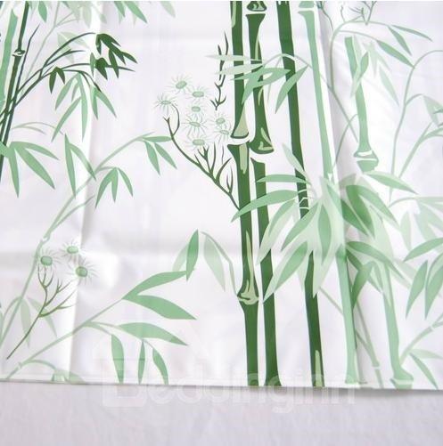 Graceful Fresh Green Bamboo Durable Shower Curtain