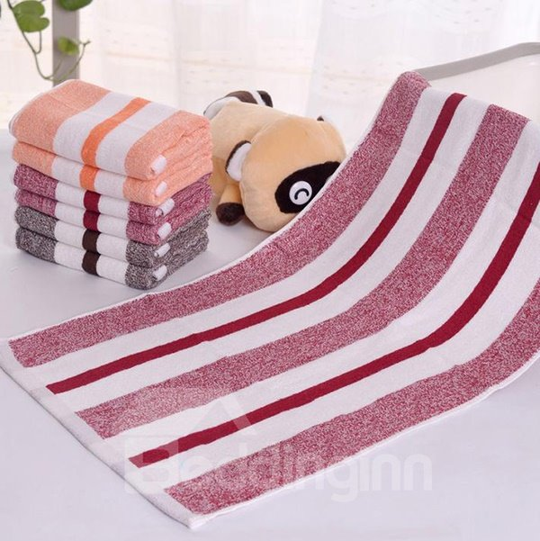Chic Concise Fabuloua Colorful Stripe Cotton Towel