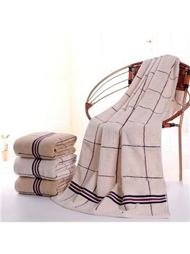 Classical Stylish Gorgeous Plaid Cotton Bath Towel