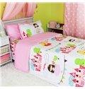 Princess Castle Print 3-Piece Cotton Duvet Cover Sets