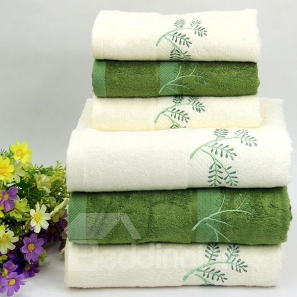 Concise Solid Color Bamboo Fiber 2-piece Bath Towel