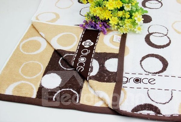 Cute Circle Comfy Cotton 2-piece Bath Towel