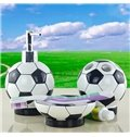 Creative Fashion Football 5-piece Resin Bath Accessories