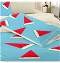 Sweet Watermelon Print Polyester 4-Piece Duvet Cover Sets
