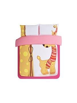 So Cute Deer Print 3-Piece Skincare Duvet Cover Sets
