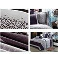 Leopard and Rose Print 4-Piece Duvet Cover Sets
