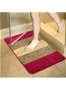 High Quality Super Comfy Leaves Bath Rug
