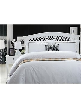 Holy Pure White 4-Piece 100% Cotton Duvet Cover Sets