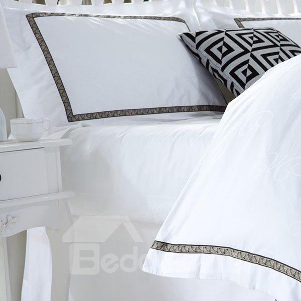 Holy Pure White 4-Piece 100% Cotton Duvet Cover Sets