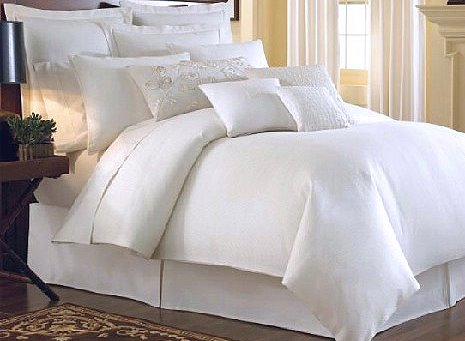 Top Class Pure White 4-Piece 100% Cotton Duvet Cover Sets