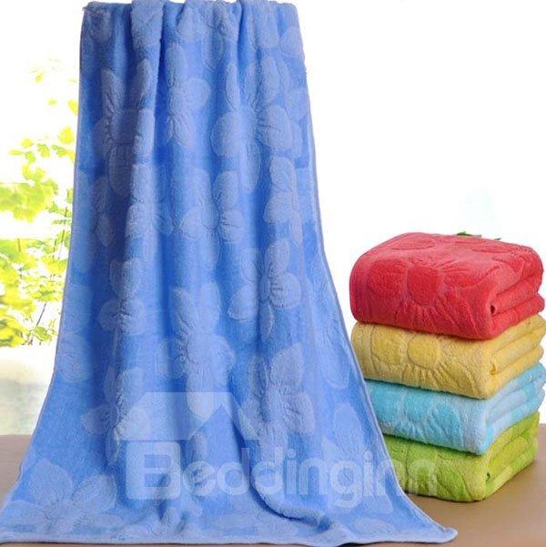 Thick Comfy Sunflower Jacquard Cotton Bath Towel