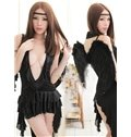 Black Angel With Super Long Wings Costume