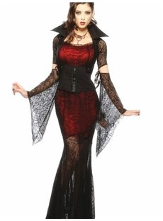 Sexy Sheer Elastic Fabric Bat Sleeves Costume