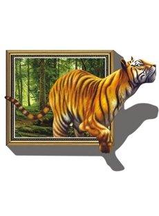 Vivid Decorative Tiger Pattern Removable 3D Wall Sticker