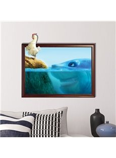 Top Selling Cock and Shark 3D Wall Sticker