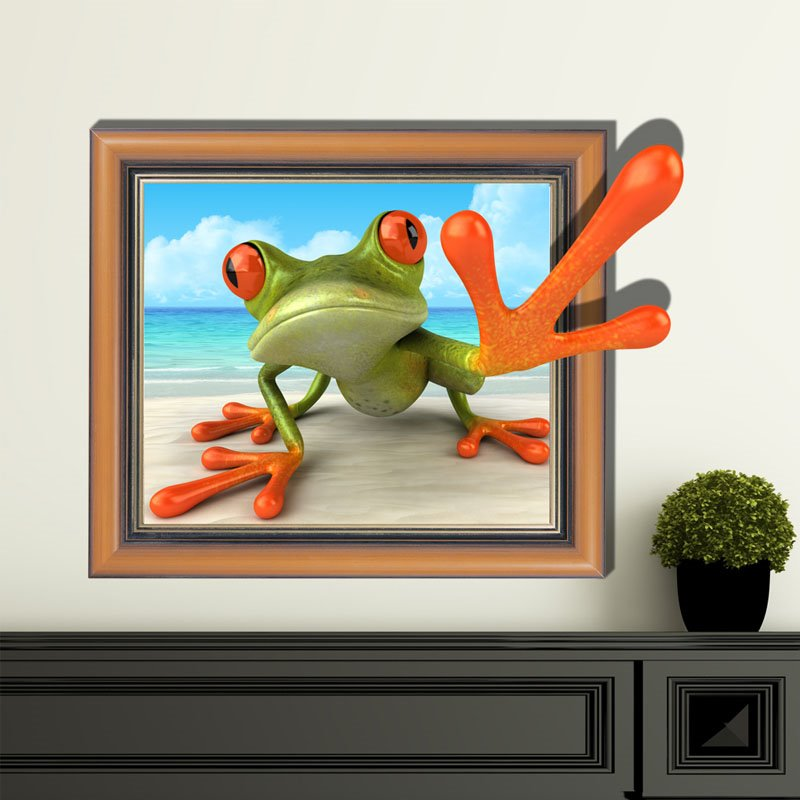 Wonderful Creative Frog Pattern 3D Wall Sticker