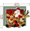 Top Quality Wonderful Santa Claus 3D Wall Sticker