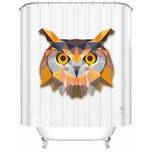 3D Prismatic Fancy Creative Owl Print Shower Curtain