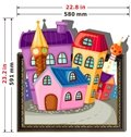 Pretty Good Quality Cartoon House 3D Wall Sticker