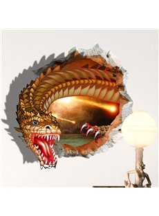 Creative Design Cartoon Magic Dragon 3D Wall Sticker